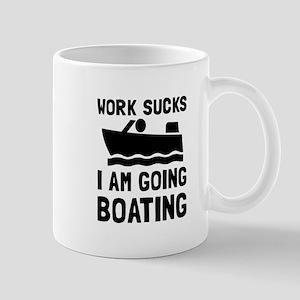 Work Sucks Boating Mugs