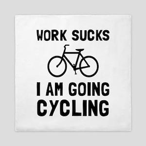 Work Sucks Cycling Queen Duvet