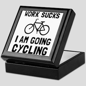 Work Sucks Cycling Keepsake Box