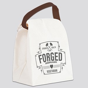 Forged Compassion Vegetarian Canvas Lunch Bag