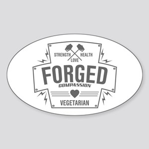 Forged Compassion Vegetarian Sticker (Oval)