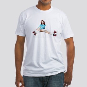 Pinup Girl on Roller Skates T-Shirt