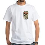 Ukulele Playing Tiki White T-Shirt