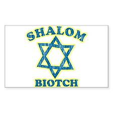 Shalom Biotch Rectangle Sticker