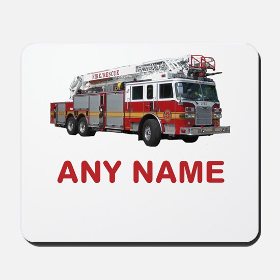 FIRETRUCK with Any Name or Text Mousepad