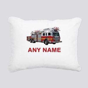 FIRETRUCK with Any Name or Text Rectangular Canvas