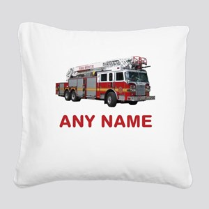 FIRETRUCK with Any Name or Text Square Canvas Pill