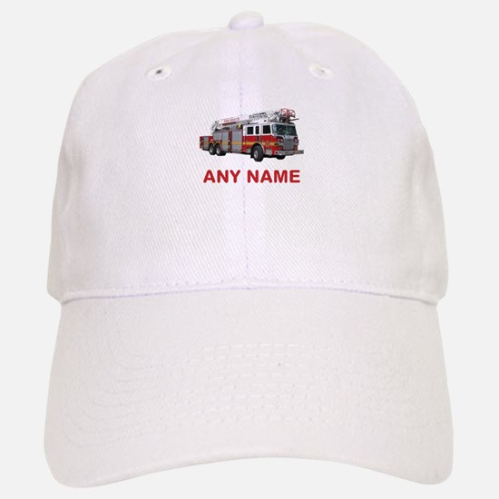 FIRETRUCK with Any Name or Text Baseball Hat