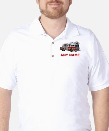 FIRETRUCK with Any Name or Text Golf Shirt