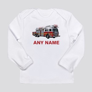 FIRETRUCK with Any Name or Text Long Sleeve T-Shir