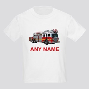 Kids Firefighter. FIRETRUCK with Any Name or Text T-Shirt 03c353e80