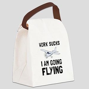 Work Sucks Flying Canvas Lunch Bag