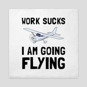 Work Sucks Flying Queen Duvet