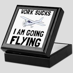 Work Sucks Flying Keepsake Box