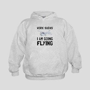 Work Sucks Flying Hoodie
