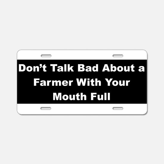 Funny Talk Aluminum License Plate