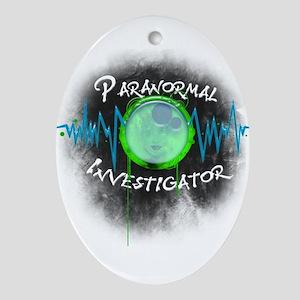 Ghost Investigator Oval Ornament