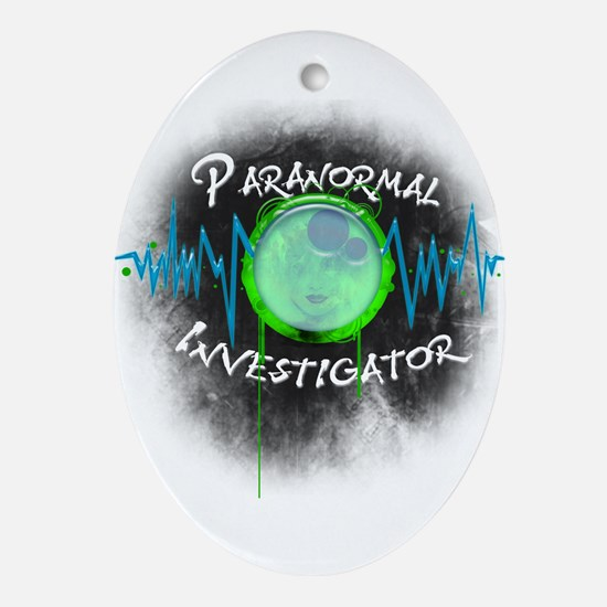 Ghost Investigator Oval Ornament