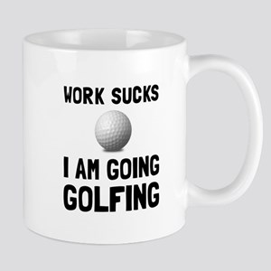 Work Sucks Golfing Mugs