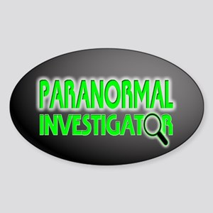 Paranormal Investigator Oval Sticker