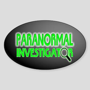 Paranormal Investigator Oval Sticker