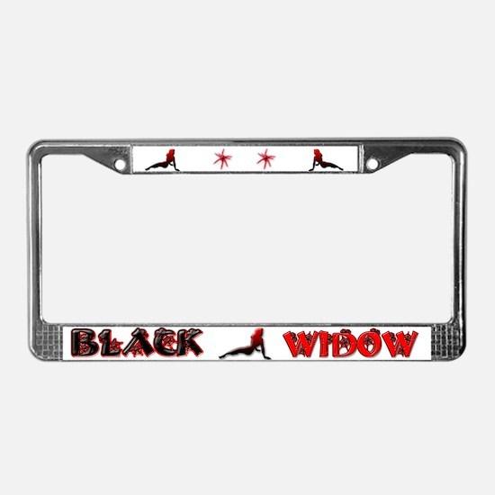 Black Widow License Plate Frame