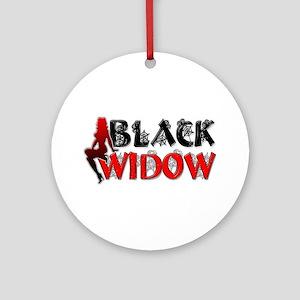 Black Widow Ornament (Round)
