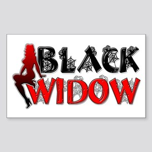 Black Widow Rectangle Sticker