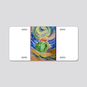 Cactus, Starry Night Aluminum License Plate