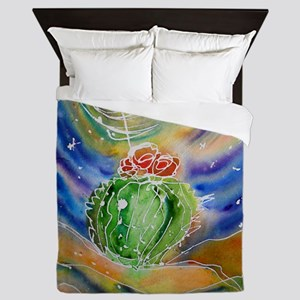 Cactus, Starry Night Queen Duvet