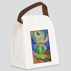 Cactus, Starry Night Canvas Lunch Bag