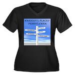 Pennsylvania Women's Plus Size V-Neck Dark T-Shirt