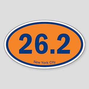 New York City Marathon 26.2 Euro Oval Sticker