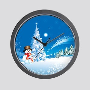 Snowman Christmas Wall Clock