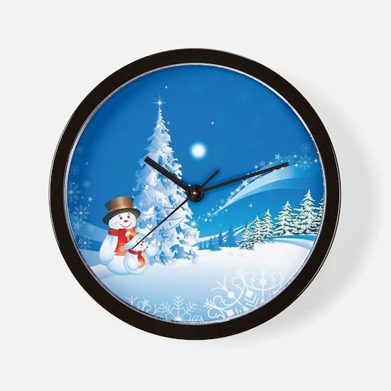 Snowman Christmas Wall Clock