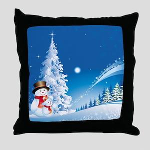 Snowman Christmas Throw Pillow