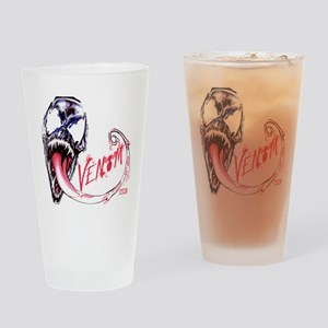 Venom Face Drinking Glass