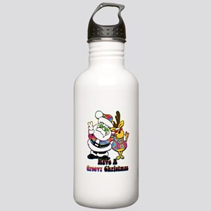 Groovy Christmas Stainless Water Bottle 1.0L