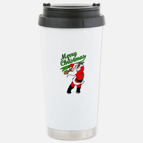 Baseball Christmas Stainless Steel Travel Mug