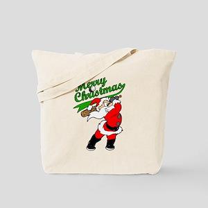 Baseball Christmas Tote Bag