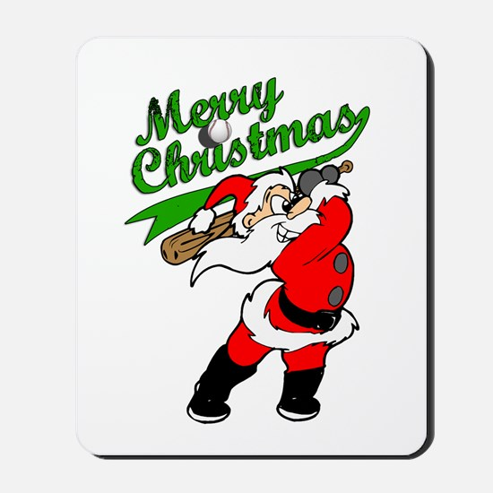 Baseball Christmas Mousepad
