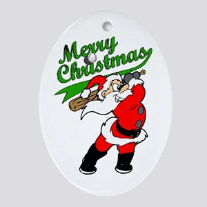 Baseball Christmas Ornament (Oval)