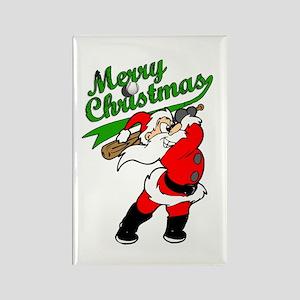 Baseball Christmas Rectangle Magnet