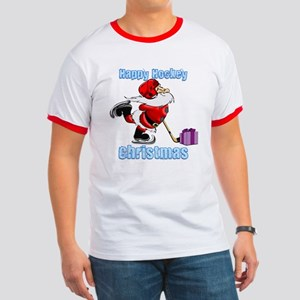 Hockey Christmas Ringer T