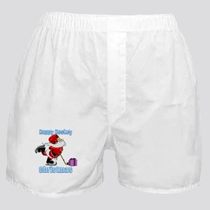 Hockey Christmas Boxer Shorts