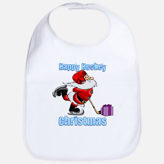 Hockey Christmas Bib