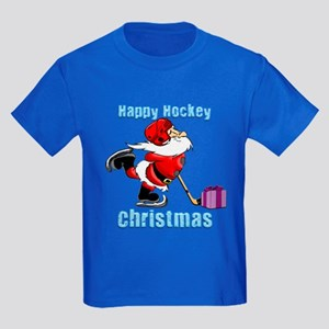 Hockey Christmas Kids Dark T-Shirt