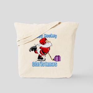 Hockey Christmas Tote Bag