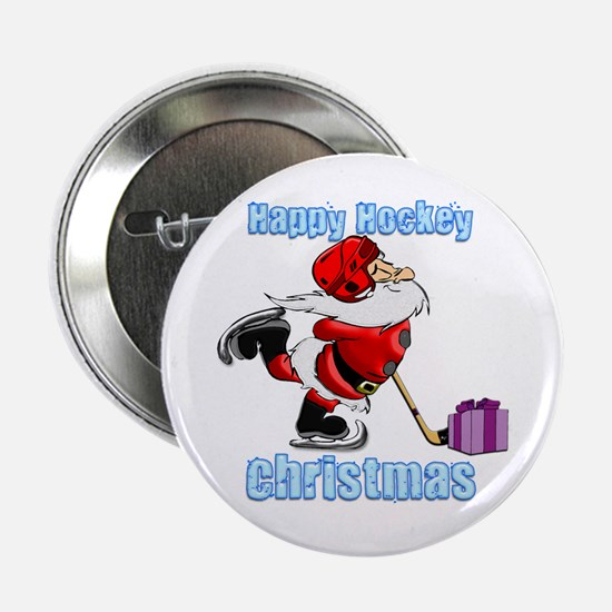 "Hockey Christmas 2.25"" Button"