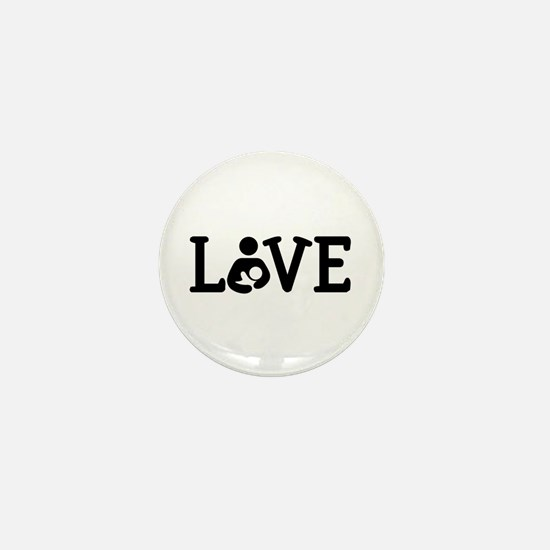 Breastfeeding Love Mini Button